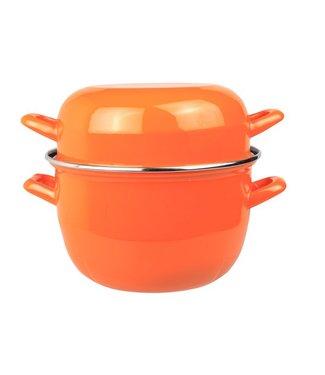 Cosy & Trendy For Professionals Horeca Mosselpot 2kg Oranje Nieuw 3,250ld20cm (set van 6)