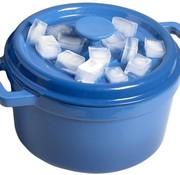 Cosy & Trendy Bergerac Kookpot M.plat Deksel Blauw 4,5l D24xh13cm Gietijzer Binnenkant Cream
