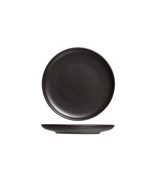 Cosy & Trendy Okinawa - Dessertbord - Zwart - D19xh1,8cm  - Keramiek - (Set van 6)