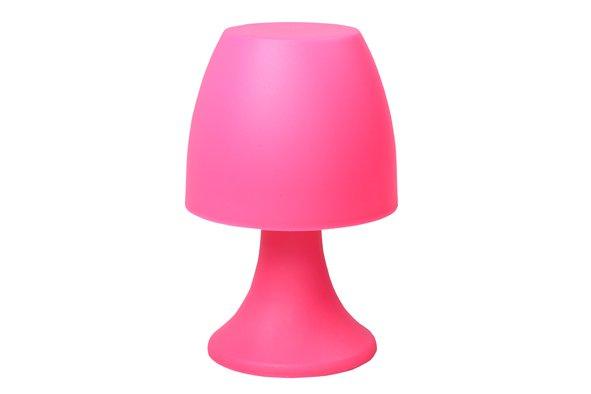 Cosy @ Home Lamp Pp M.leds Fuchsia D12xh19cm Excl. 3xaaa Batt.
