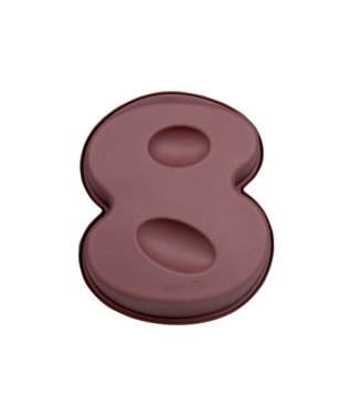 Cosy & Trendy Love Baking - Baking tin - Number 8 - Silicone