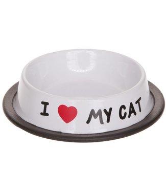 Cosy & Trendy I Love My Cat Pet Dish 15,5xh3,5cm (set of 6)