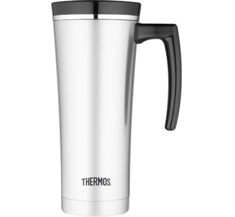 Premium Travel Mug 470ml Inox Zwart