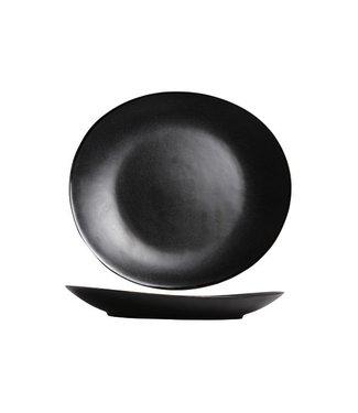 Cosy & Trendy Vongola Black Dinerborden 28x25.5cm  - Aardewerk - (Set van 6)