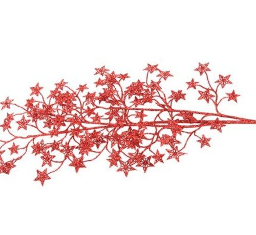 Cosy @ Home Glittertak Rode Sterren H80cm (set van 12)