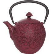 Cosy & Trendy Teapot Cast Iron 0.33l Pear Dark Redwith Filter Tsp55