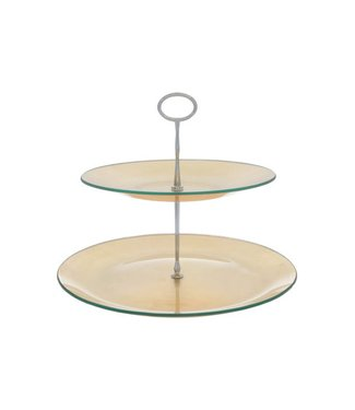 Cosy & Trendy Cake Plate Gold 2 Levels  D25-31xh25