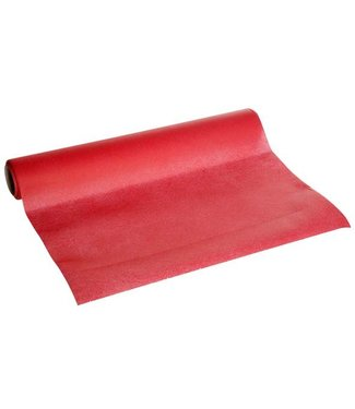 Cosy & Trendy For Professionals Ct Prof Table Runner Red 0,4x4,8mpaper Textile-touch