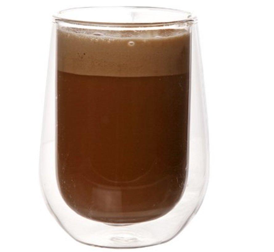 Isolate Koffieglas 20cl Set2 D6,3xh10cmdubbelwandig Glas