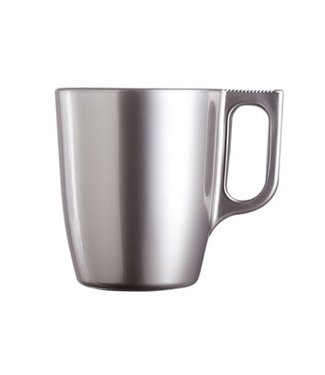 Luminarc Flashy Colors - Cup - Silver - 25cl - Glass - (set of 6).