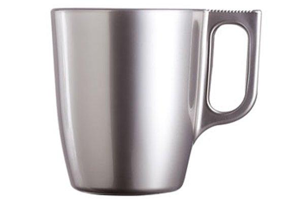 Luminarc Flashy Colors Mug Zilverkleur 25cl (set van 6)