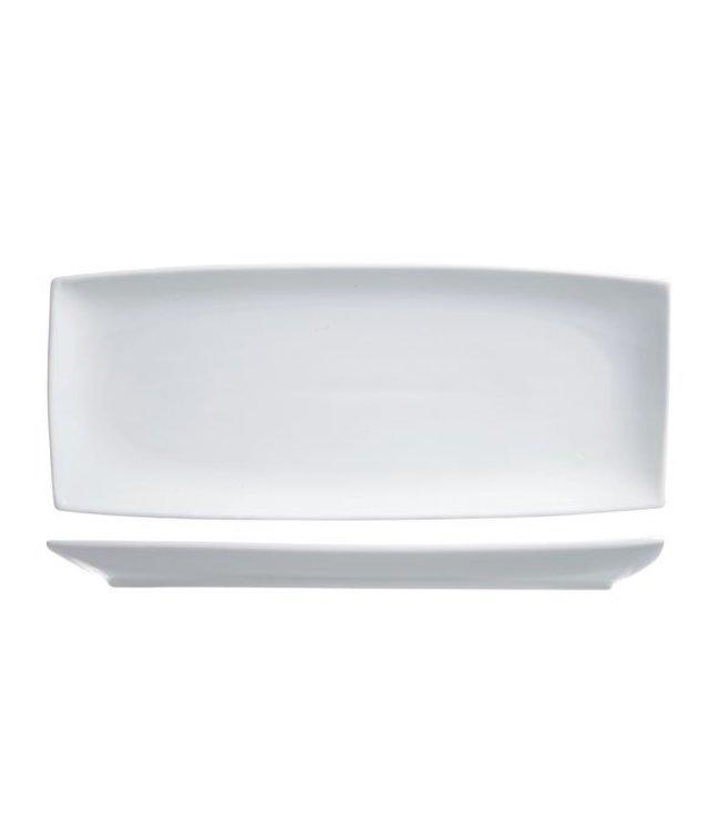 Cosy & Trendy Avantgarde - Presentatiebord - Rechthoekig - Wit - 25x10,5cm - Porselein - (set van 6)