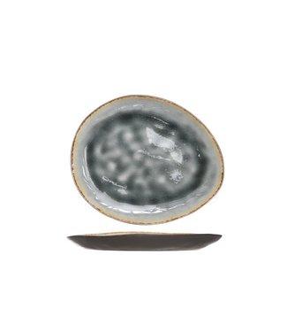 Cosy & Trendy Plato plano gris azulado de Laguna 19.5x16cm Oval (juego de 6)