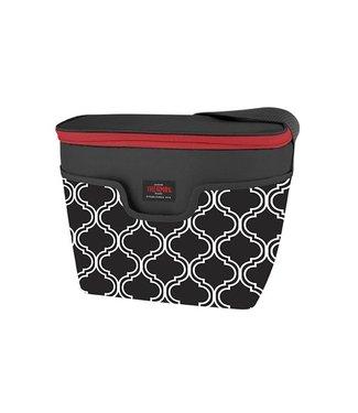 Thermos Raya Premium Brooke Koeltas 8lzwart-wit 29x17x23cm - 9 Can - 5h Koud