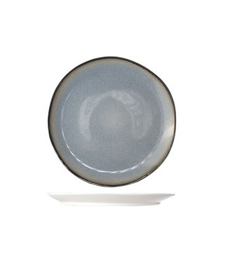 Cosy & Trendy Fez Blauw Dessertborden D22.5cm   - Aardewerk - (Set van 6)