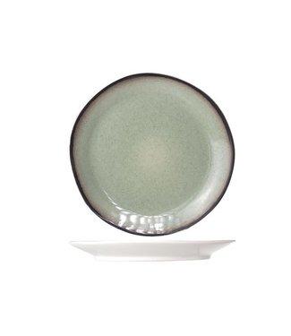 Cosy & Trendy Fez Green Platos de Postre D22.5cm - Ceramica - (Juego de6)