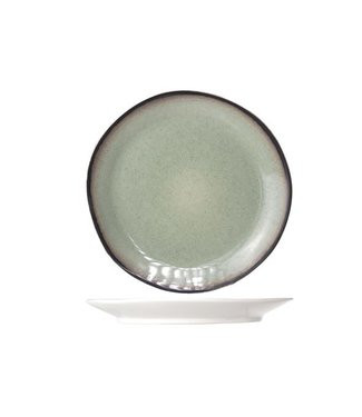 Cosy & Trendy Fez Groen Dessertborden D22.5cm   - Aardewerk - (Set van 6)