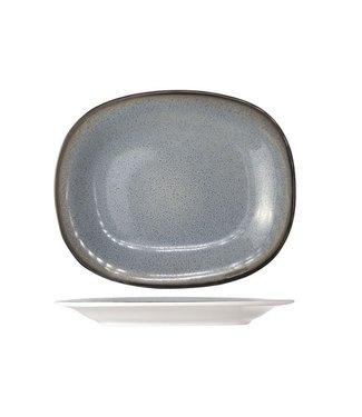 Cosy & Trendy Fez Blue Dinerborden - Ovaal - 24x31cm - Aardewerk - (Set van 6)