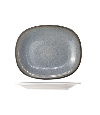 Cosy & Trendy Fez Blue Dinner Plate Oval 24x31cm (set of 4)