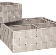 Cosy & Trendy Expert Mand Taupe Set4 Nylon28x28xh10-26x13xh9-13x13xh9-13x13xh9