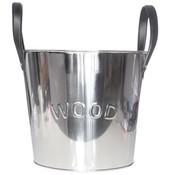 Cosy & Trendy Bucket Metal H31cm W. Leather Handles