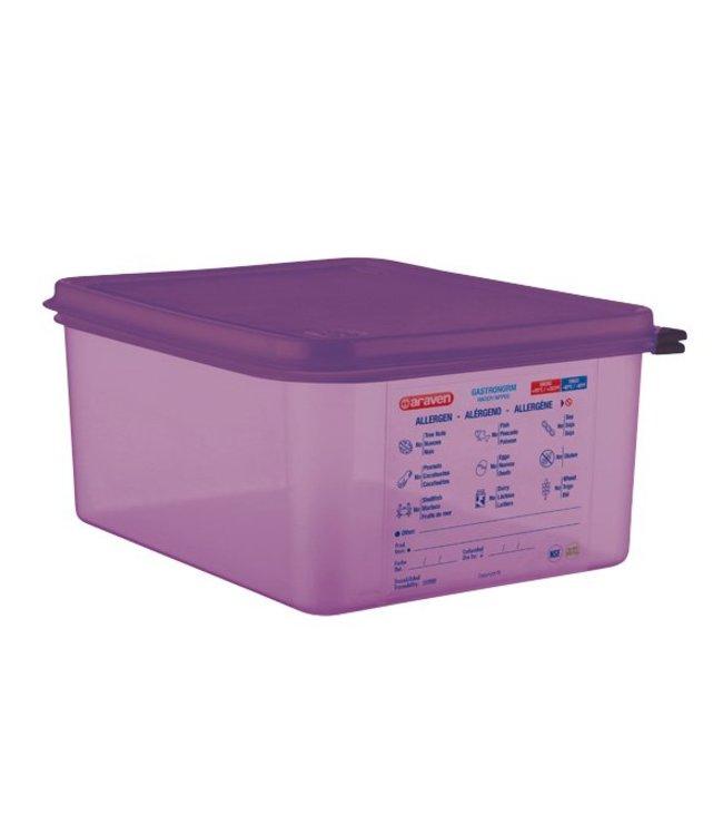 Araven Airtight Foodcontainer - Gn1-2 - Purper - 10L - 32.5x26.5x15cm - Polypropyleen - (set van 3)