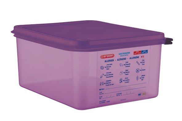 Araven Airtight Food Cont Gn1-2 Purper 10l 32.5x26.5x15cm Polypropyleen