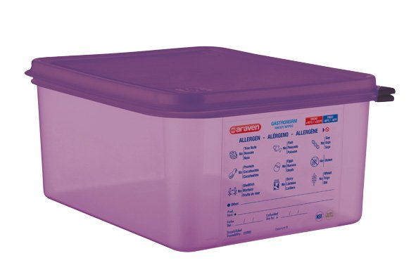 Araven Food Cont Airtight Gn 1-2 Purper 10l32.5x26.5x15cm - Pp