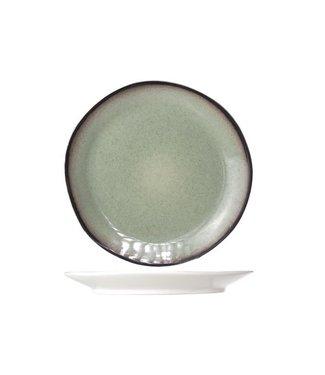 Cosy & Trendy Fez Green - Dinerborden - D28cm  - Keramiek - (Set van 6)