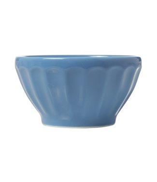 Cosy & Trendy Facetta - Bowl - D14xh7.5cm - Blauw - (set van 6).