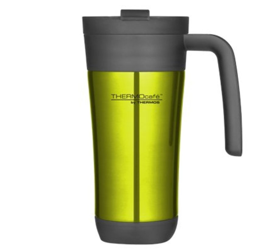 Flip Lid Travel Mug 425ml Limed10xh19.5cm - Mit Griff