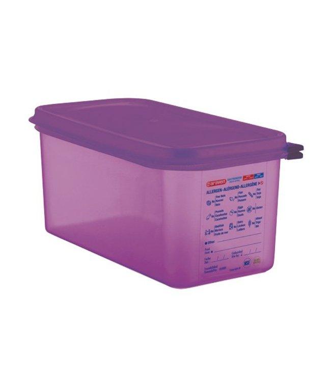 Araven Airtight Foodcontainer - Gn1-3 - Purper - 6L - 32.5x17.6x15cm - Polypropyleen - (Set van 3)