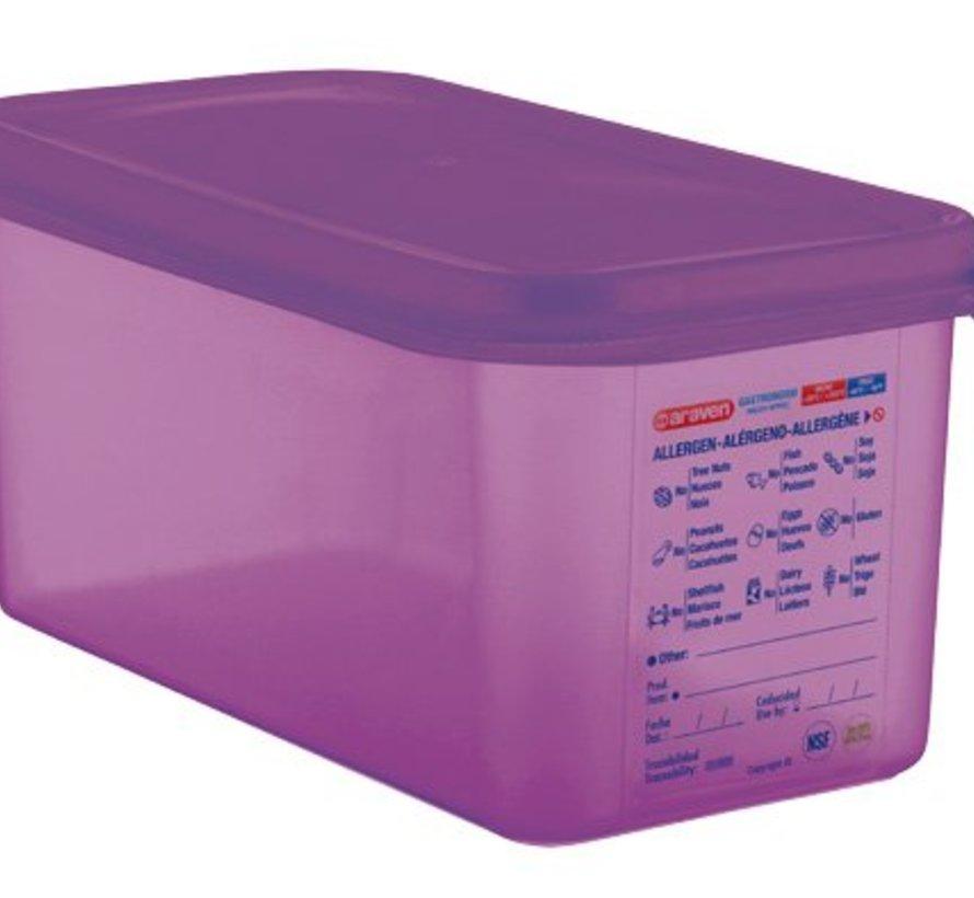 Airtight Food Cont Gn1-3 Purper 6l 32.5x17.6x15cm Polypropyleen