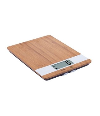 Cosy & Trendy Kitchen Scale Bamboo White Ielectr. Cap.5kg-1gr - 23x17xh2.2cm Excl 2xaaa Batt.