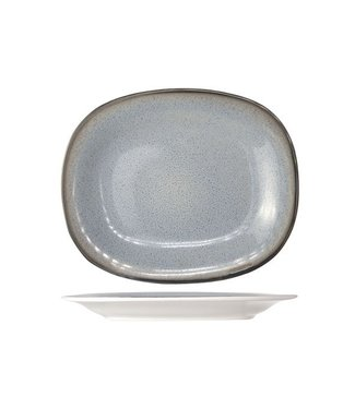Cosy & Trendy Fez  Blauw Ovale Dessertborden - Aardewerk - 19.5x23.5cm (Set van 6)