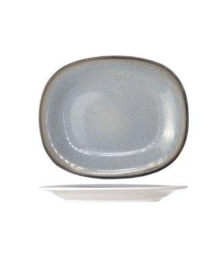 Cosy & Trendy Piatto dessert Fez blu ovale 19,5x23,5cm - Ceramica - (Set di 6)