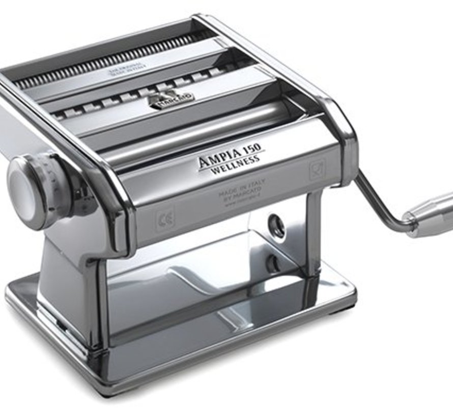 """Ampia 150 Wellness"" Classic Pasta Machine - 3 types of Pasta: lasagne - tagliatelle - taglioline"