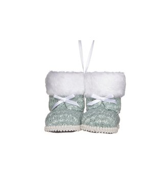 Cosy @ Home Hanging Xmas Boots Grey 10x8xh8cm