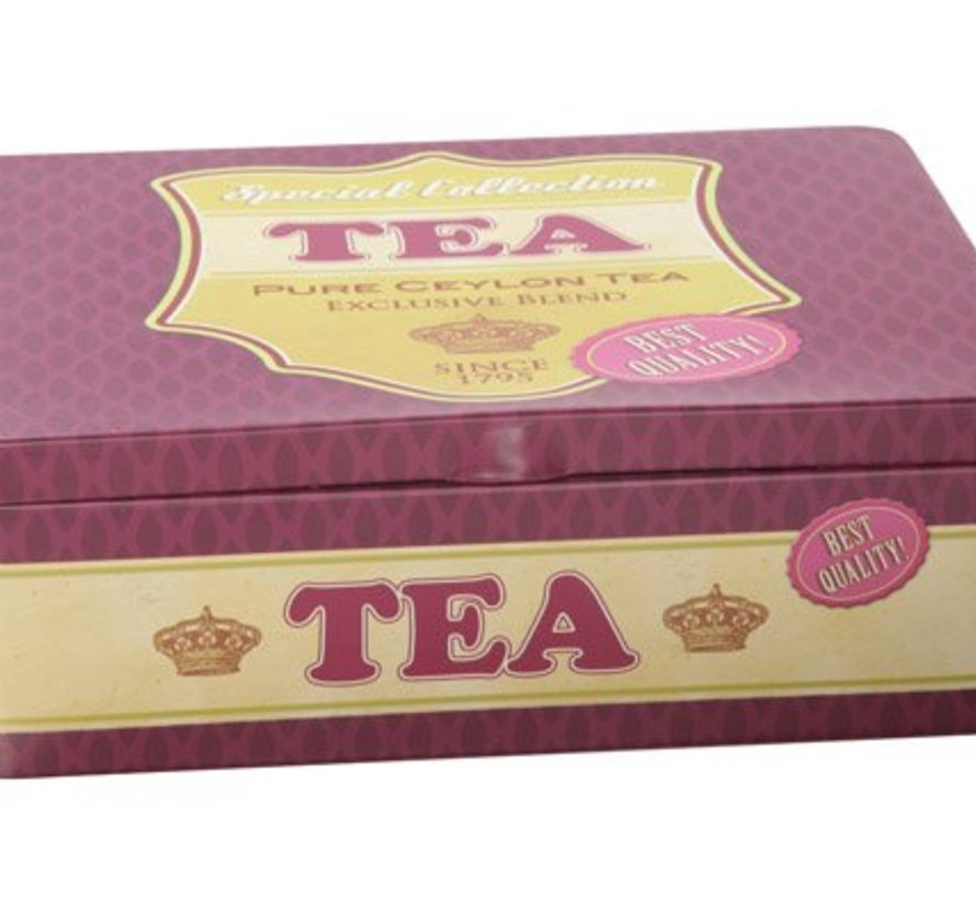 Retro Voorraaddoos Tea 20x14xh6.5cm