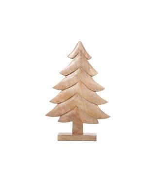 Cosy @ Home X-mas Tree Classic Nature Wood29x6x45cm