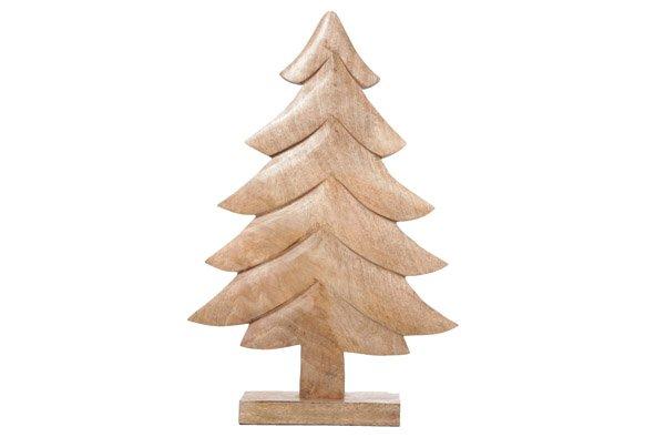 Cosy @ Home Kerstboom Klassiek Natuur Hout 29x6x45cm