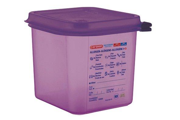Araven Airtight Food Cont Gn1-6 Purper 2,6l 17.6x16,2x15cm Polypropyleen (set van 6)