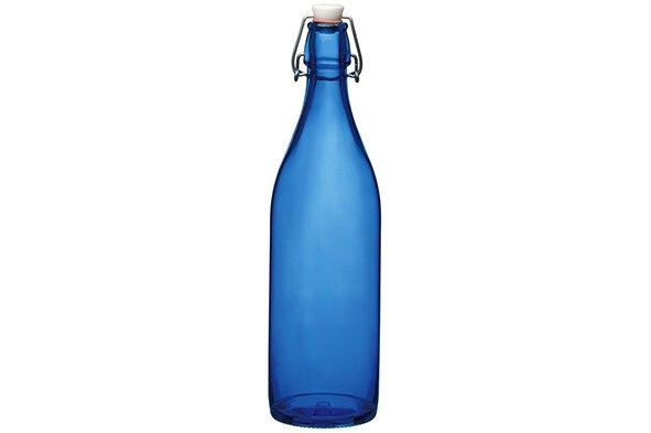 Bormioli Giara Fles Met Capsule Donkerblauw Spray1l (set van 6)