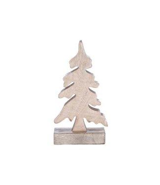 Cosy @ Home X-mas Tree Nature Wood 12x4xh21cm
