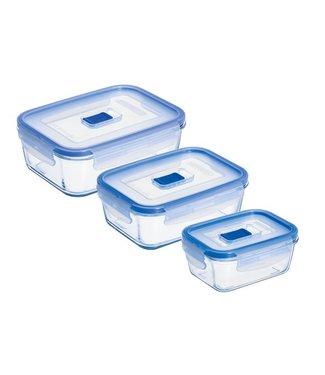Luminarc Pure-Box-Active - Vershouddozen - 3delig - 38cl, 82cl, 122cl - Glas