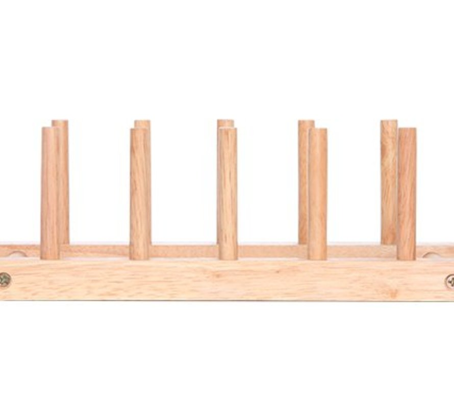 Bordenrek Voor 6 Borden 29.5x12xh8.5cm Hout (set van 6)