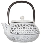 CT Tokyo Cream Teapot With Filter 0.85l Cast Iron