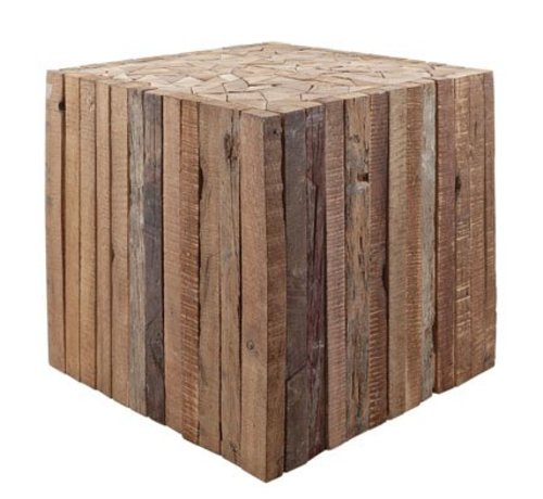 Cosy & Trendy Tasmania Pouf-side Table 25x25xh25cmrecycled Wood