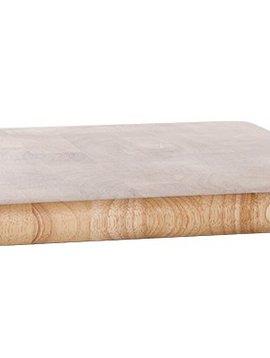 CT Snijplank 30x30xh2.5cm Vierkant Rubberwood