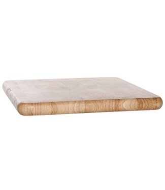 Cosy & Trendy Snijplank  Rubberwood Vierkant 30x30xh2.5cm